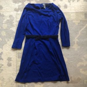 Anthro Blue 3/4 Sleeve dress size small